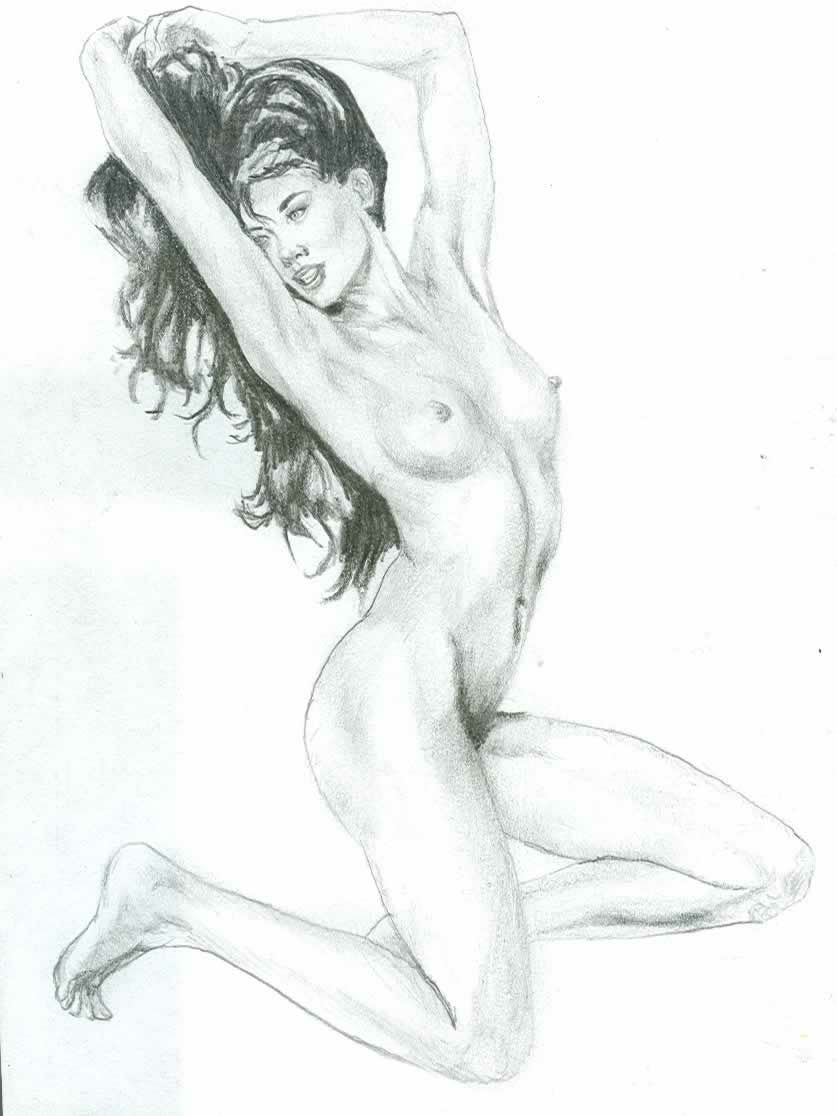 Nude in pencil