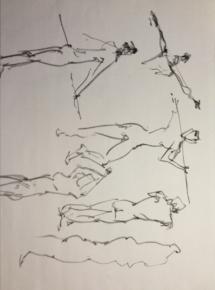Figure Vector - Free-hand sketching