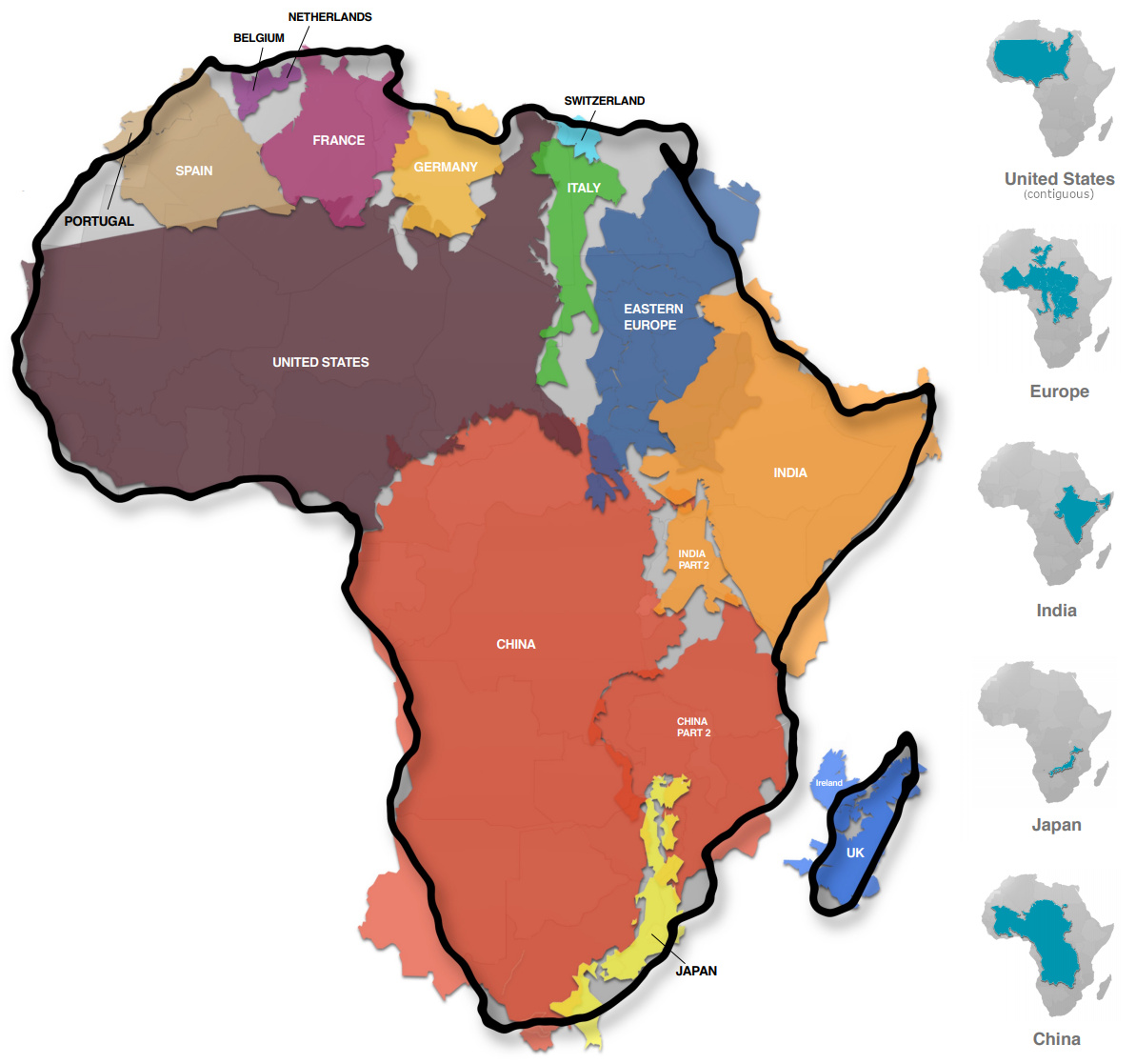 Visualizing the True Size of Africa