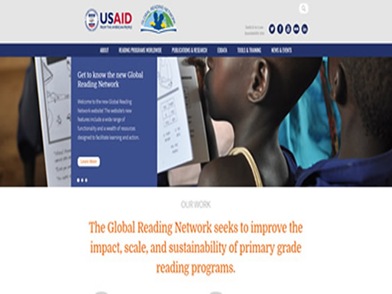 Websamples- Global Reading Network Home Content Box