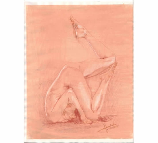 Variation of Halasana (Plow)